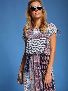 Letnia sukienka w stylu boho Top Secret bohostyle bohemian Casual, Dresses, Fashion, Vestidos, Moda, Gowns, Fasion, Dress, Gown