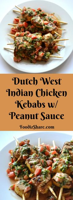 A terrific Caribbean kebab dish served with peanut sauce. It's a must try if you like satay. #recipes #delicious #easy #grilling #caribbean