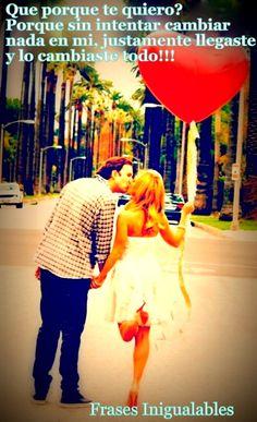 Porque te quiero!!