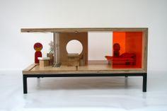 Qubis 'c' shaped side table (short metal legs), 330.00 pounds.