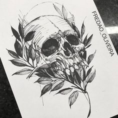 But something other than a skull Skull Tattoos, Body Art Tattoos, Sleeve Tattoos, Cool Tattoos, Forearm Tattoos, Tattoo Sketches, Tattoo Drawings, Art Drawings, Dibujos Tattoo