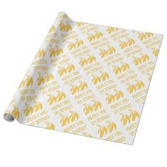 TOTALLY BANANAS WRAPPING PAPER - girlfriend love couple gift idea unique cool