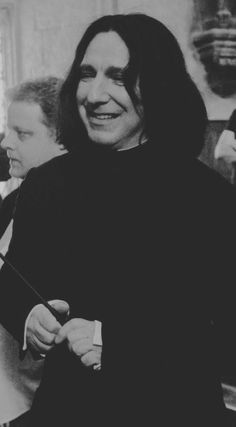 The Noble House of Rickman...It's so wonderful to see him smiling as Snape!
