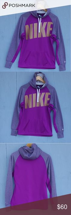 Nike pullover Therma fit size s hoodie Nike pullover Therma fit size s hoodie. In fantastic condition. Also has a drawstring on the inside bottom. As well as drawstring around the hood. Shirt also has finger holes. Bust of sweatshirt men's approximately 40 inches. Length of sweatshirt and measures approximately 26 in. Nike Tops Sweatshirts & Hoodies