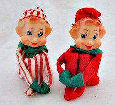 Large Knee Hugger Elf Christmas Elves Pixie Gold Ornament ...