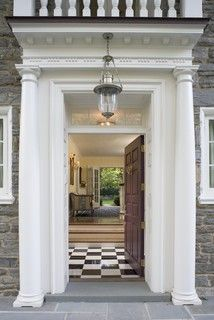 Checkered floors aren't just for kitchens.