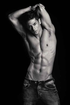 He loves to stretch his muscles. | Meet Hideo Muraoka, Your New Favorite Male Model
