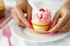 This vanilla cupcake recipe from scratch makes the fluffiest, moist and perfectly domed cupcakes.