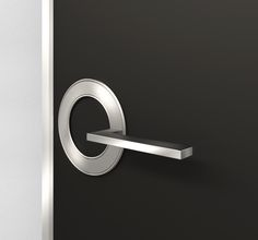 The orb door handle. Like the design and concept behind this lever design, more suited for hotels, as the handles light up for easy use in the dark Bedroom Door Handles, Bedroom Doors, Red Garage Door, Door Handle With Lock, Contemporary Interior Doors, Black Door Handles, Modern Door Handles, Door Makeover, Door Furniture
