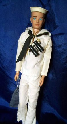 Sailor Ken Doll...what are you looking at through those binnoculars, Ken.  Wipe that surprised look off your face!