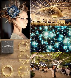Color and theme inspiration #2  (Gold, off-white, dark blue, teal)