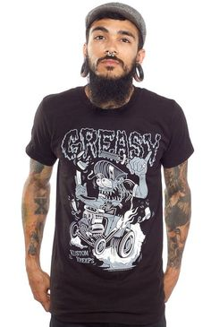 Kustom Kreeps Greasy Mens T-Shirt S
