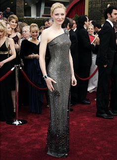 "Cate Blanchett, nominee for Best Supporting Actress for her work in ""Notes on a Scandal,""  arrives at the 79th Academy Awards in Hollywood, ..."