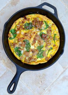 Frittata with Sweet Chicken Sausage and Spinach