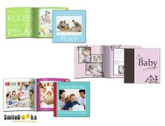 Cute photo book templates provided by SmileBooks! Only for 8x8 softcover, 26 pages. #smilebooks #photobooks #storybooks #gift #baby #birthday #beach