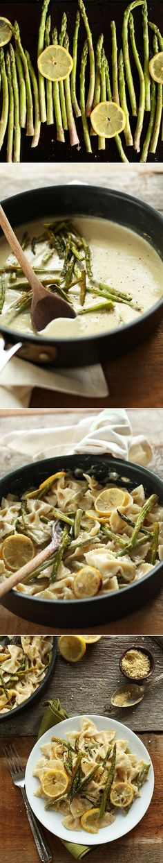 Vegan Creamy Vegan Lemon Asparagus Pasta Recipe