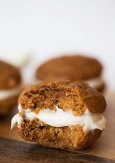 Mini gingerbread whoopie pies are the perfect little treat for the holiday season!.