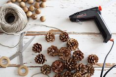 Make a delicate fall pine cone garland