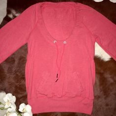 LULULEMON SAVASANA TUNIC SWEATER In GREAT CONDITION . Made with natural beech wood fiber and Lycra for shape retention . Drawstring detail at neckline . Super super soft and comfy . Pockets in front , slight  rushing at waist & 3/4 sleeve . No size tag but I believe it would best fit sizes 6 -8 lululemon athletica Tops Sweatshirts & Hoodies