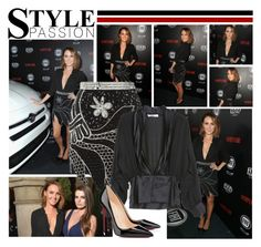 """""""2016 Vanity Fair Young Hollywood Celebration~ Camilla Luddington"""" by snugget9530 ❤ liked on Polyvore featuring Rodarte and Christian Louboutin"""