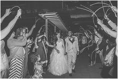 Glow Stick Wedding Exit - Mr. and Mrs. Robinson // Clinton Library Wedding // Little Rock Arkansas | Cassie Jones Photography