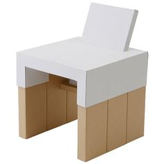 MUJI cardboard chair for kids!!! OMG! And you can draw all over it! How F-U-N!