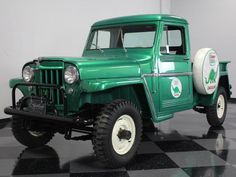 The top 3 classic trucks on eaby that you can buy today. Number a 1961 Willys Jeep. This one has been ultra customized so it might not be for everyone, but, as classic customs go, there is no cleaner Willy's for sale, maybe anywhere. Jeep Pickup, Jeep Truck, Pickup Trucks, Jeep Jeep, Vintage Jeep, Vintage Trucks, Old Trucks, Station Wagon, Pick Up