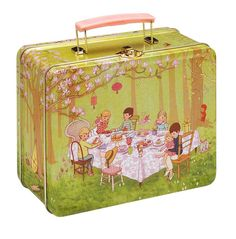 Vintage style metal lunch boxes are the cutest!