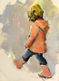 Nancy Franke, Musings on Painting: Intuition - Painting with Joy Painting People, Painting For Kids, Figure Painting, Watercolor Portraits, Watercolour Painting, Watercolors, Urban Sketching, Figurative Art, Painting Inspiration