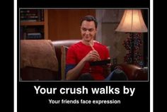 I don't have a crush. I am the friend.