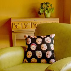 xx Doll Head Throw Pillow Cover - photos of vintage doll heads - custom backgrounds - 2-sided printing by RawBoneStudio on Etsy https://www.etsy.com/listing/466145233/doll-head-throw-pillow-cover-photos-of