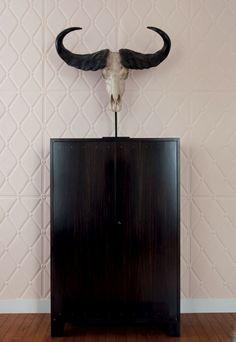 new elitis wallpaper Modern Interior, Interior Styling, Interior Decorating, Interior Design, Cow Skull, World Of Interiors, Organic Modern, True Art, Live Wallpapers