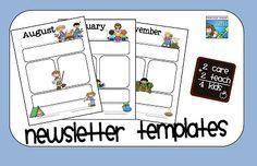 reflections of an early childhood teacher: New Newsletter Templates Preschool Newsletter, Classroom Newsletter, School Newsletters, Kindergarten Classroom, School Classroom, Classroom Ideas, Classroom Layout, School Kids, Classroom Activities