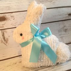 Chenille Bunny Easter BunnySpring Bunny by littlestitchstudio1