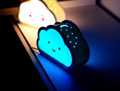 Happy Cloud Lamps - With Casting Shadow Effect by Nils Kal #prusai3 #practical #prototyping #toysandgames