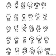 [Cp] [PDA painted stick figure cartoon # # creative character hairstyle articles [/ cp]