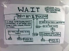 For the extroverted preference:  WAIT! Why am I talking? #flowchart #conversation #staffmeeting