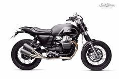 "caferacerpasion: "" Moto Guzzi V7 Street Tracker ""Savile"" by South Garage Motor Co   www.caferacerpasion.com """