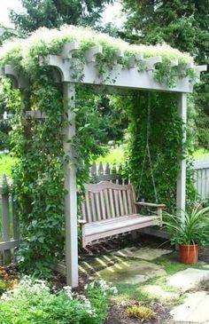 , Gazebo Swing Bench White Outside Patio Garden Whitewashed Cottage Chippy Shabby chic French country Rustic Swedish Decor Idea by della. , Gazebo Swing Bench White Outside Patio Garden Whitewashed Cottage Chippy Shabby . Outdoor Projects, Garden Projects, Concrete Projects, Outdoor Reading Nooks, Reading Garden, Outside Patio, Outside Swing, Garden Seating, Garden Benches