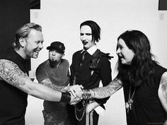 James Hetfield, Fred Durst, Marilyn Manson, and Ozzy Osbourne