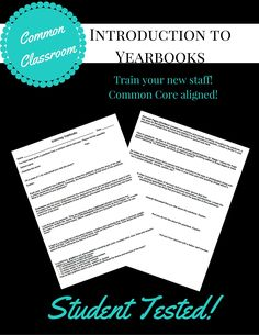 Most students are familiar with what a yearbook looks like and what he or she can expect to find inside on. This worksheet focuses on important terms and vocabulary that students will need to know …