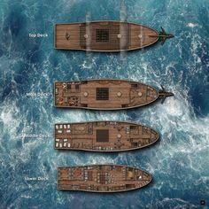 "The ""Brawny Slave"" 4 decks, dungeon/adventure sea encounter."