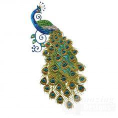 Embroidery Design- $8.99 Swnpa128 Peacock Embroidery Design