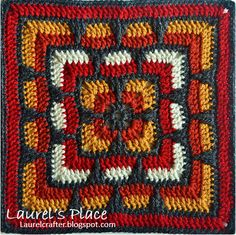 #Crochet Flower Squares shared by Laurel's Place