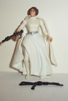star wars action figures PRINCESS LEIA ORGANA 1995 2 bands belt complete power of the force potf