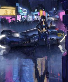 Cyberpunk cop