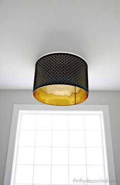 Using a lamp shade as a light fixture