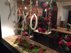 The perfect Valentines window. Love in the play park by xoxo