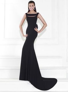 ihomecoming.com SUPPLIES Fantastic Trumpet Floor-Length Pierced Bowknot Black Evening Dress  Sexy