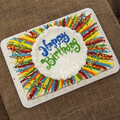 Harps Foods provides groceries to your local community. Sheet Cake Designs, Cupcake Cake Designs, Cake Decorating Piping, Birthday Cake Decorating, Pastel Rectangular, Birthday Sheet Cakes, Cake Birthday, Sheet Cakes Decorated, Cake Design For Men